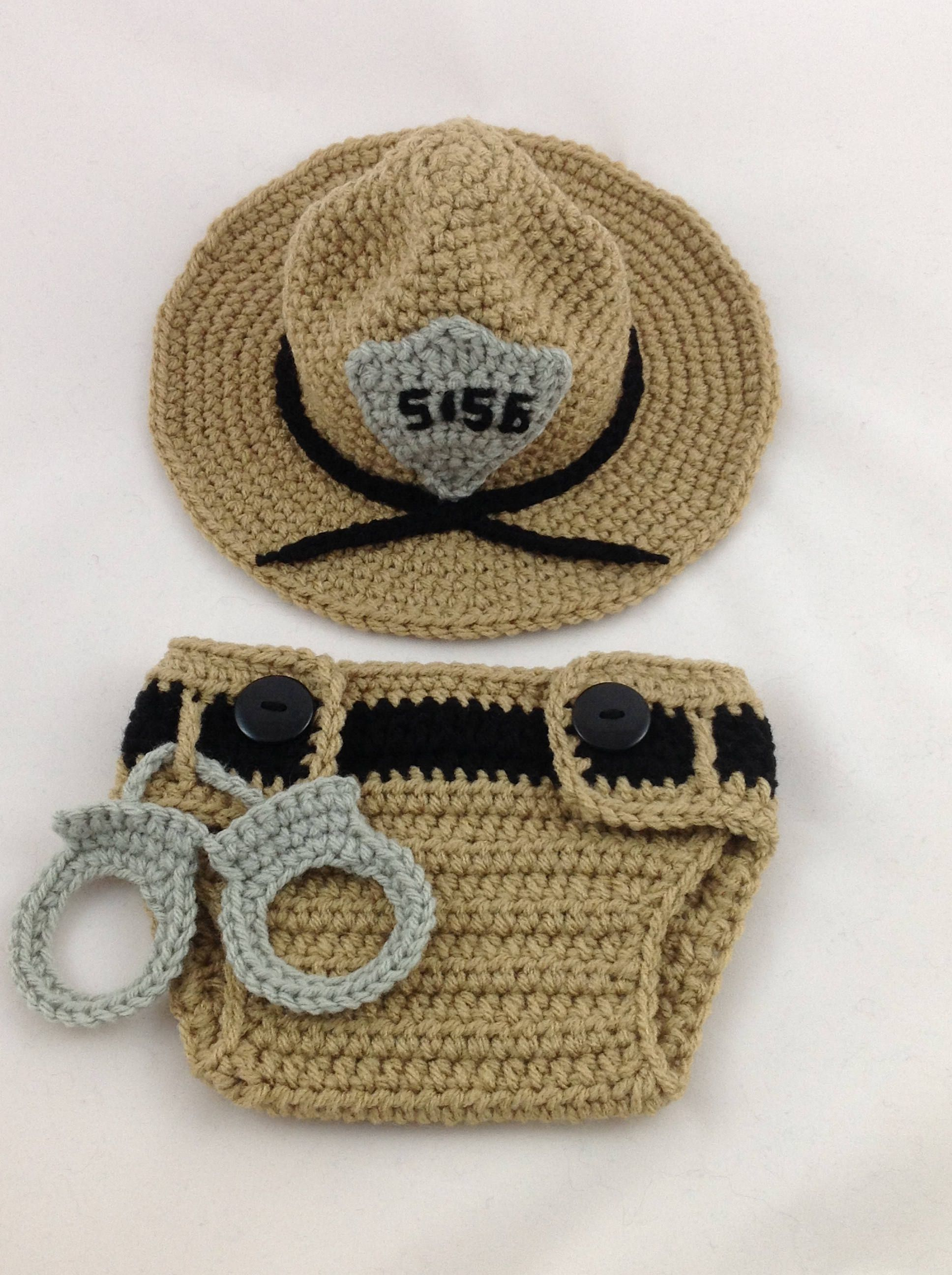 d7462d27599 State Trooper Baby Outfit - Police Officer Baby - Deputy Sheriff - Baby  Police Outfit - Park Ranger - Baby Police - Sheriff Deputy by  TimelessCrochetCraft ...