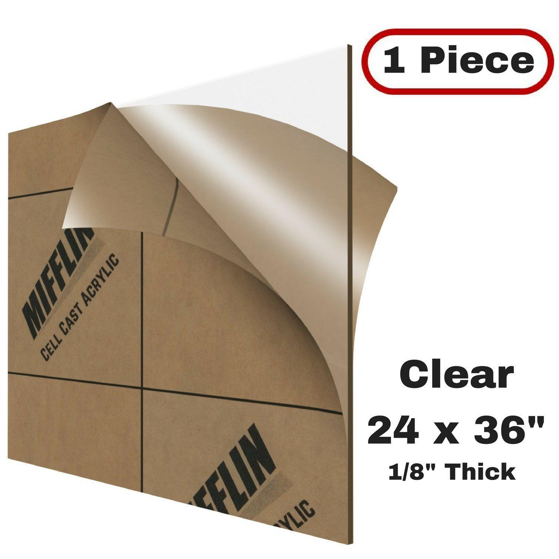 Amazon Com Mifflin Cast Acrylic Plexiglass Transparent Clear 24x36 Inch 1 Piece Plastic Sheet 0 118 1 8 Clear Plastic Sheets Plexiglass Plastic Sheets