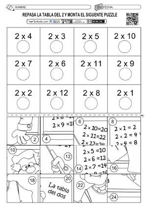 Tabla del 2-01 | matematica | Pinterest | Tabla, Multiplicación y ...