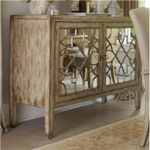 Beau Sanctuary Two Door Mirrored Console By Hooker Furniture   Alison Craig Home  Furnishings   Buffet Naples, Fort Myers, Pelican Bay, Pine Ridge, Bonitu2026