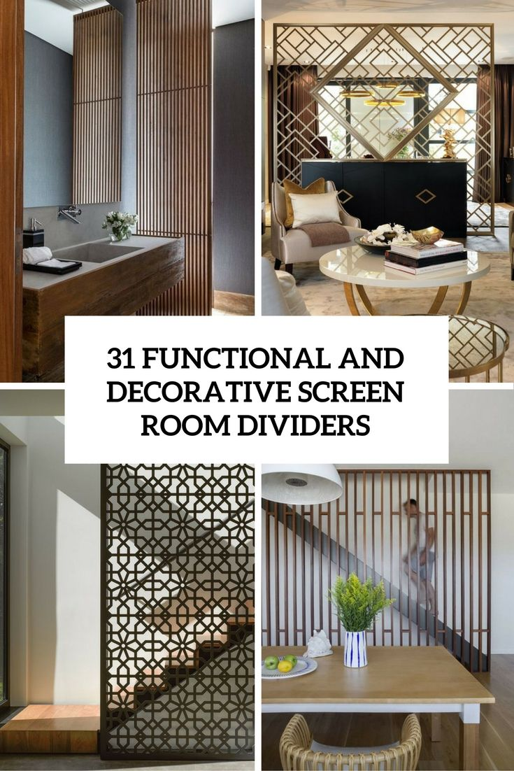 Chic home dividers designs on functional and decorative screen