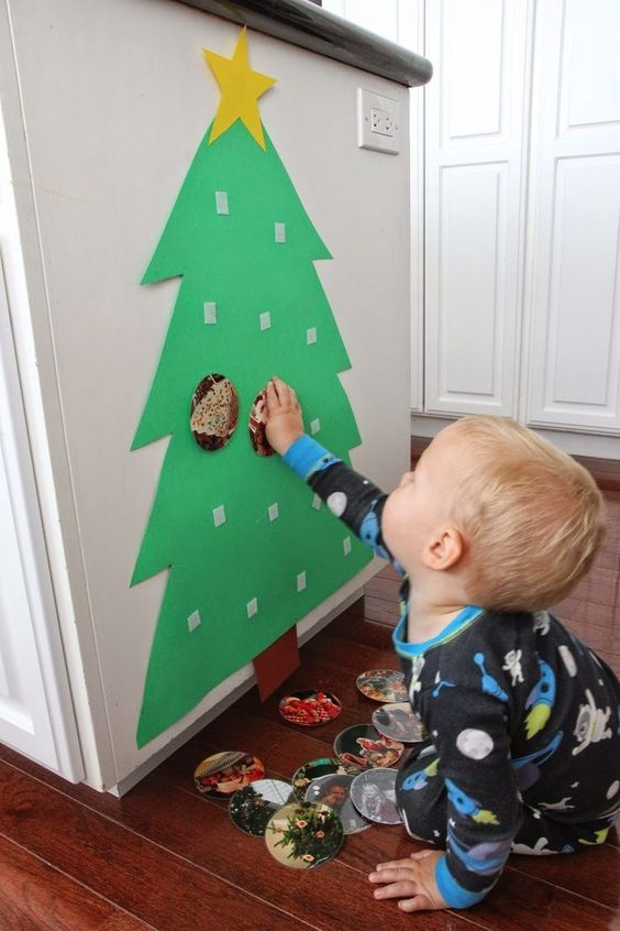 Infant Christmas Craft Ideas Part - 27: Build A Photo Christmas Tree For Babies U0026 Toddlers. Baby Christmas  CraftsChristmas ...