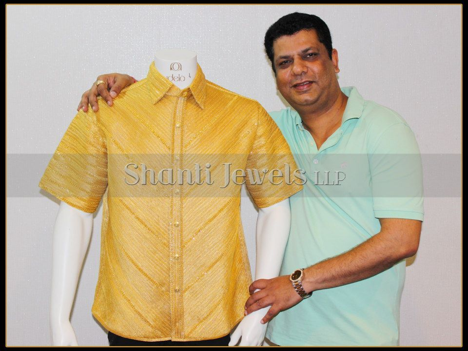 fa07b1512b4 Mahendra Sanghvi and his Creation- WORLDS MOST EXPENSIVE GOLD SHIRT ...