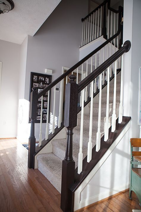 Best Diy How To Stain And Paint Oak Stair Banisters Oak 400 x 300