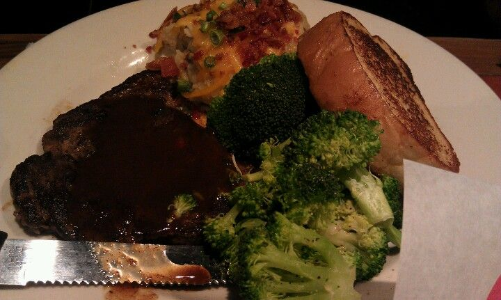 6oz sirloin steaksteak. Do not cook more than medium. Its going to taste like a rubber.....