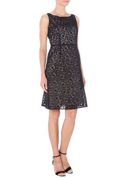 best sell new products classic styles S-OLIVER-BLACK-LABEL Kleid mit gesticktem floralem Muster in ...