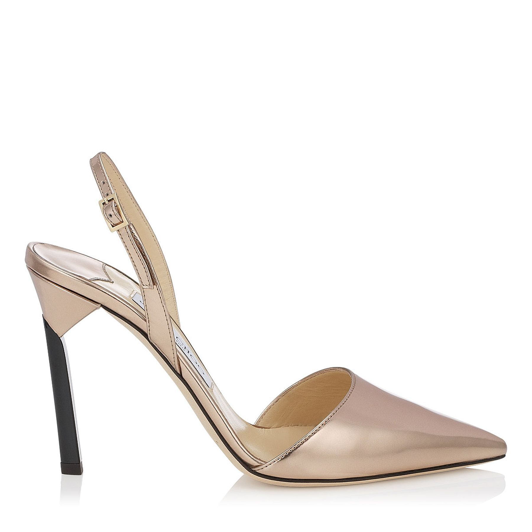 We love these Nude Mirror Leather Pointy Toe Sling Backs   Devleen   Cruise 15   JIMMY CHOO Shoes #shine...x