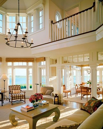 2 story living room w balcony very similar to mine like light fixture instead of ceiling fan. Black Bedroom Furniture Sets. Home Design Ideas