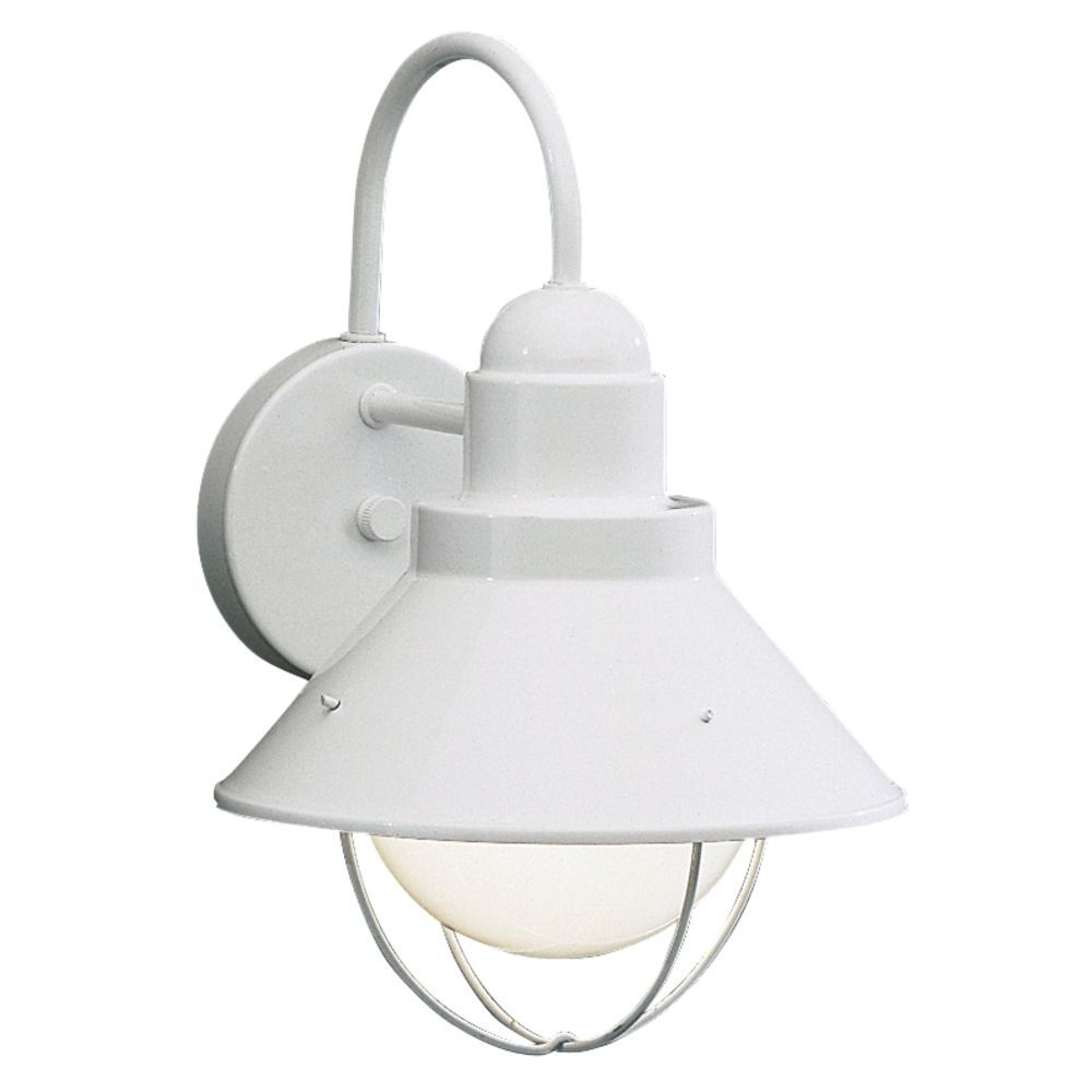 White Outdoor Lights Kichler Outdoor Wall Light In White Finish  Outdoor Walls Walls