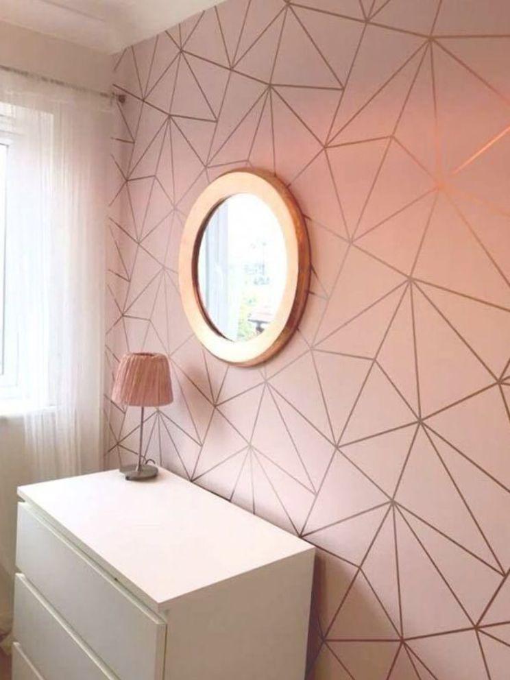 Zara Shimmer Metallic Wallpaper Soft Pink Rose Gold Ilw980111 Awesomebedroomideas Gold Room Decor Gold Wallpaper Living Room Rose Gold Room Decor