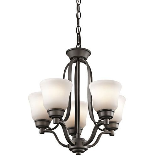 Langford Olde Bronze Five Light Mini Chandelier