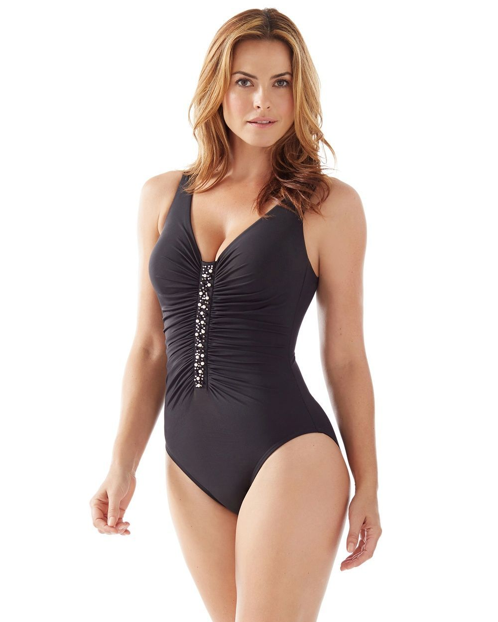 c950f738dcdb8 Chico's Women's Miraclesuit for Chico's Jewel Box One-Piece Swimsuit ...