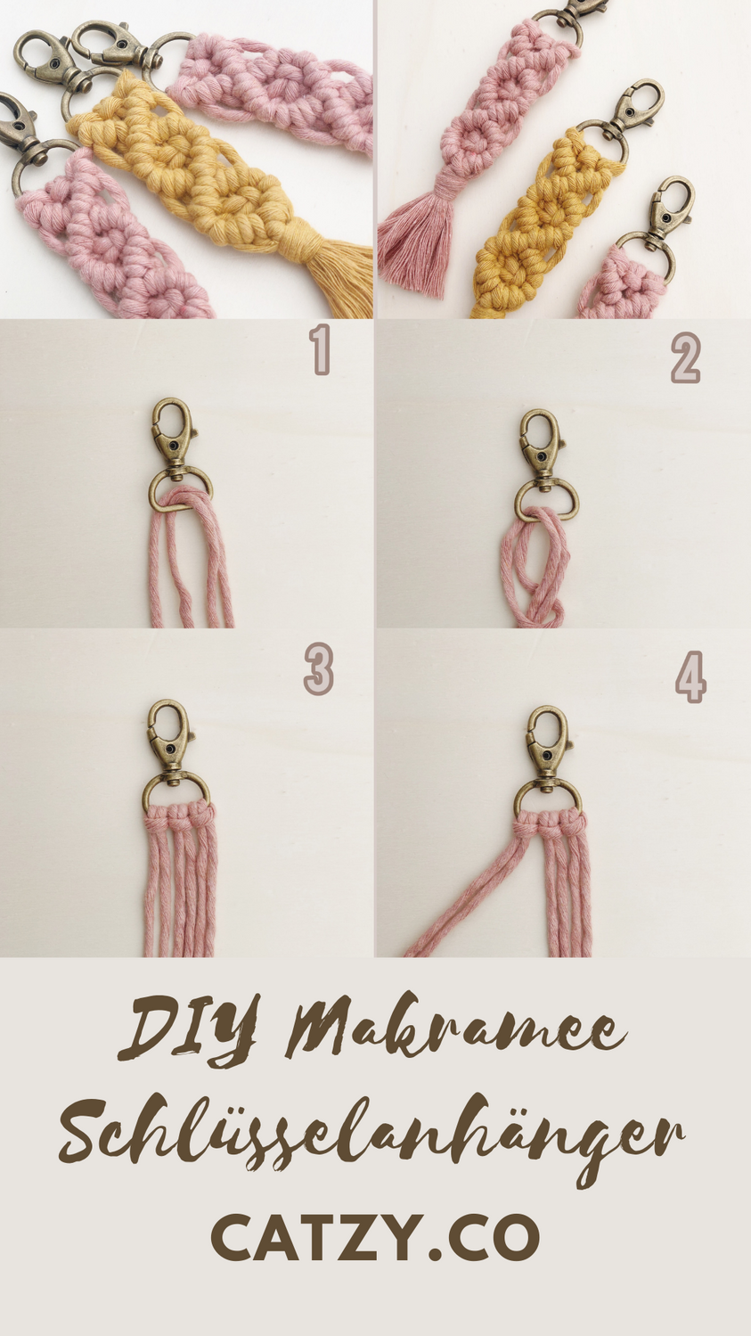 Makramee DIY Schlüsselanhänger