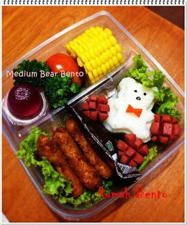 Teddy bear medium bento
