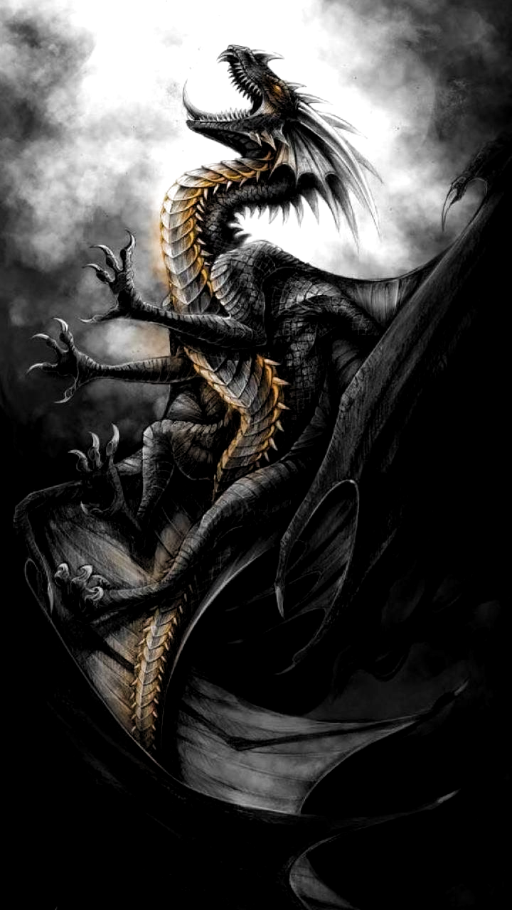 Download Black Dragon Wallpaper By Georgekev C4 Free On Zedge Now Browse Millions Of Popular Black Wallpape Fantasy Dragon Dragon Pictures Dragon Artwork