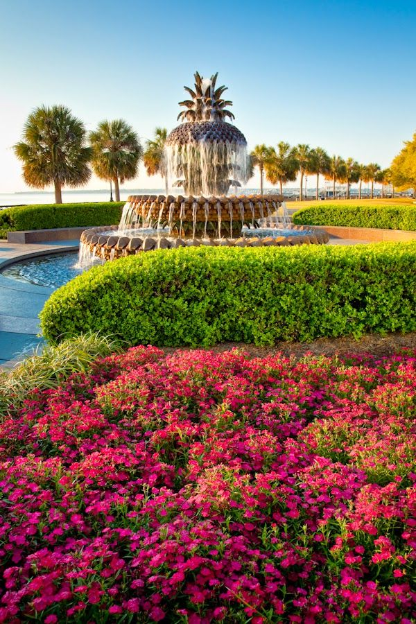 Pineapple Fountain, Waterfront Park, Charleston, SC  © Doug Hickok  All Rights Reserved