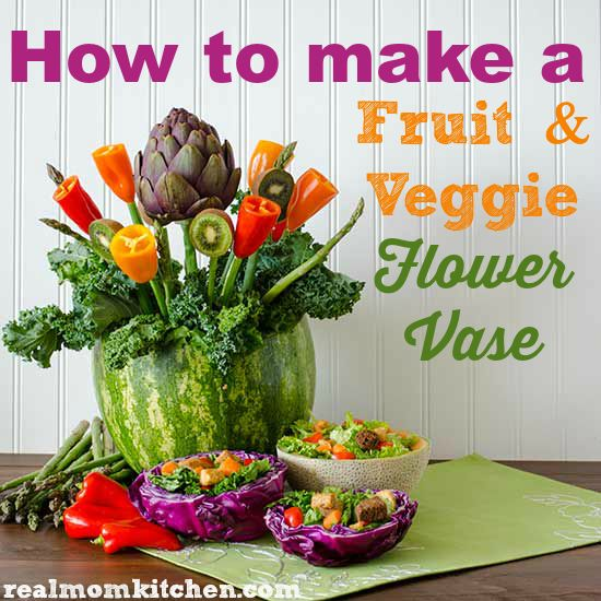 How To Make A Fruit And Vegetable Flower Vase