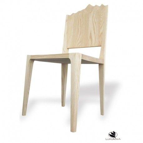 Chaise En Bois Massif Dossier Mont Blanc Design Moderne