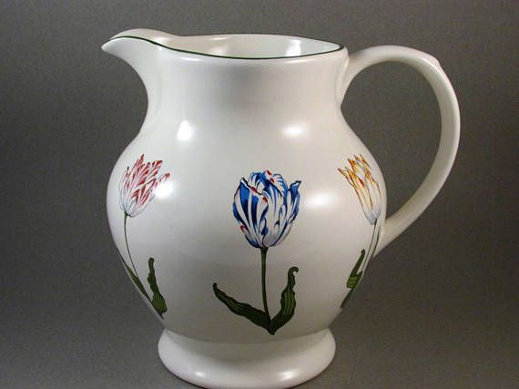 Vintage Tiffany Tulips Pitcher Designed Exclusively For Tiffany