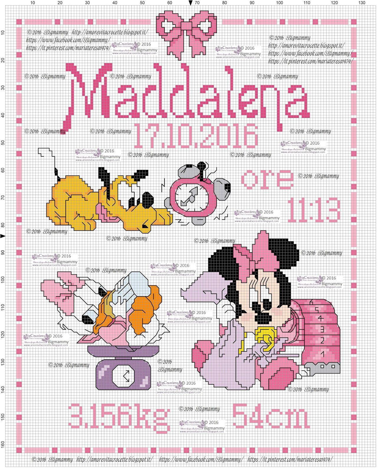 Quadretti Nascita Disney Modificato Ed Adattato Per La Nascita Di