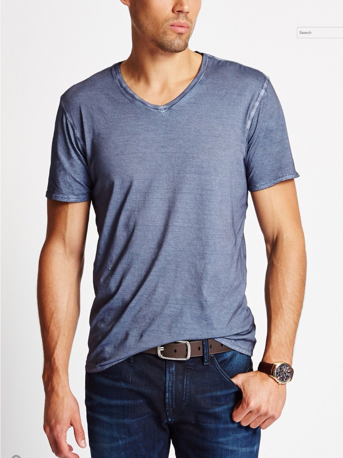 Flannel shirt with shorts men  GUNNAR VNECK WASHED TEE by GUESS  Zócalo Denim Co  Pinterest