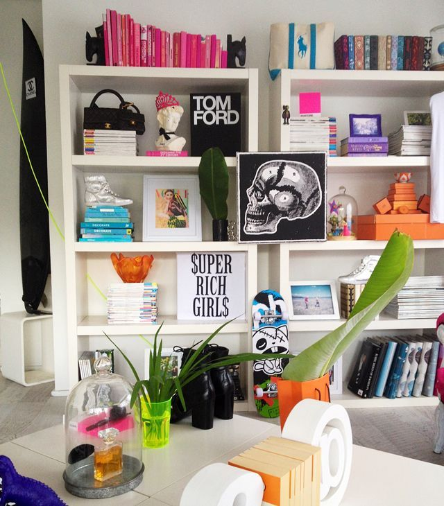 Find This Pin And More On Details. Fashionable Glamorous Bookcase Color  Coordinated How To Style Bookshelf Decorating Ideas ...