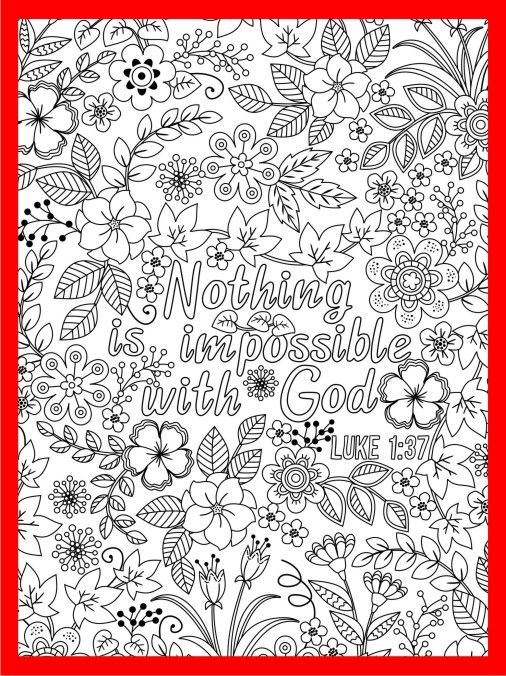 Nothing Is Impossible With God Coloring Page Luke