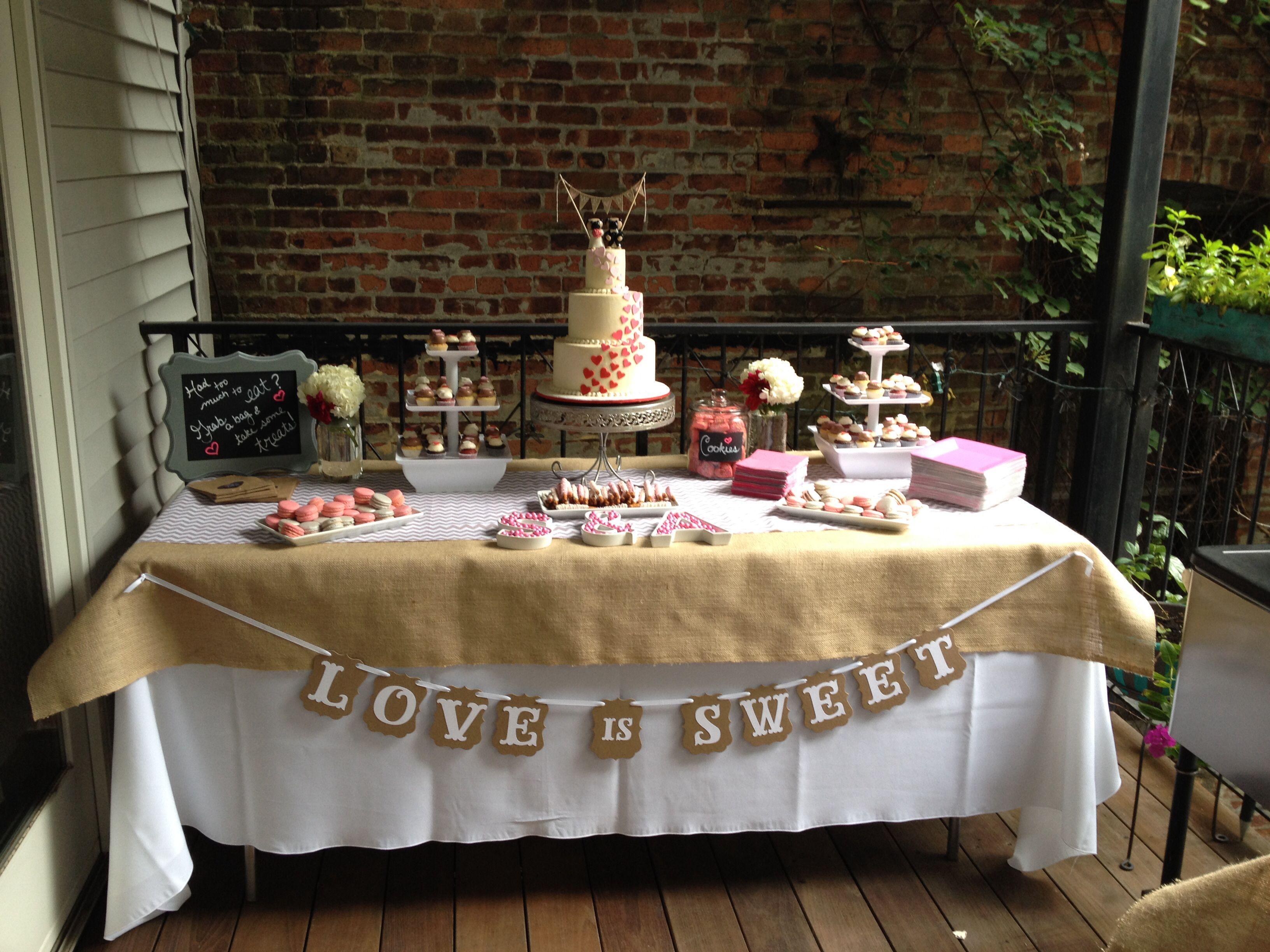 Kara's Party Ideas Boho Rustic Chic Engagement Party ... |Engagement Party Dessert Recipes
