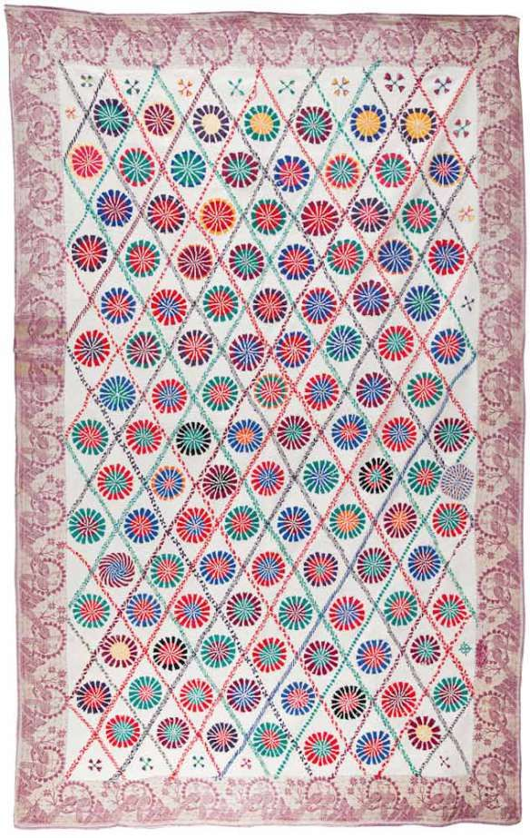 "From the Finn Collection Kantha-(Lep)-No.-158.jpg PRICE: Inquire Fig. 07-47 NAME: Lep Kantha CIRCA: Early 20th Century FROM: Murshidabad, West Bengal SIZE: 49.5"" x 78"" (125.73 cm x 198.12 cm) This …"