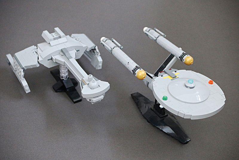 Klingon Battlecruiser And Uss Enterprise Lego Pinterest Lego
