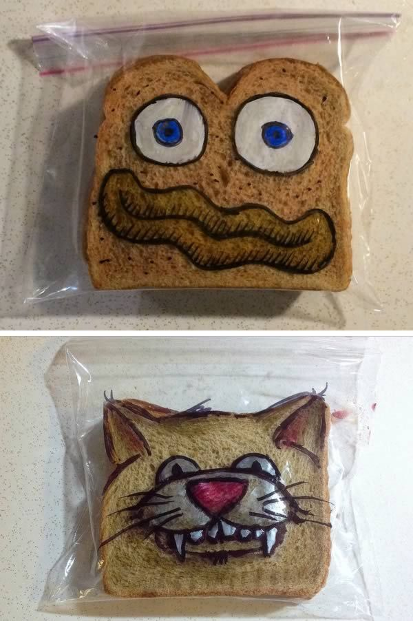 10 Most Amazing Pieces of Lunch Art By Parents (food art, lunch box, bento, awesome parents)