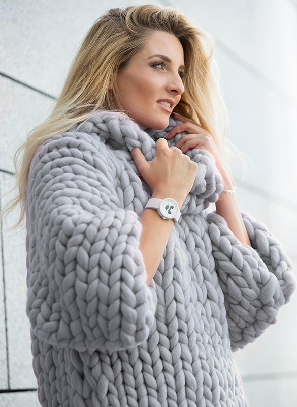 Arm Knitting Pullover : Marshmallow sweater — roomy and soft chunky by