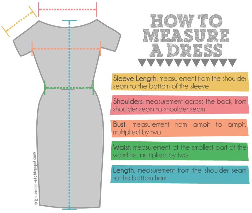 How to measure a dress laying flat. Etsy clothes