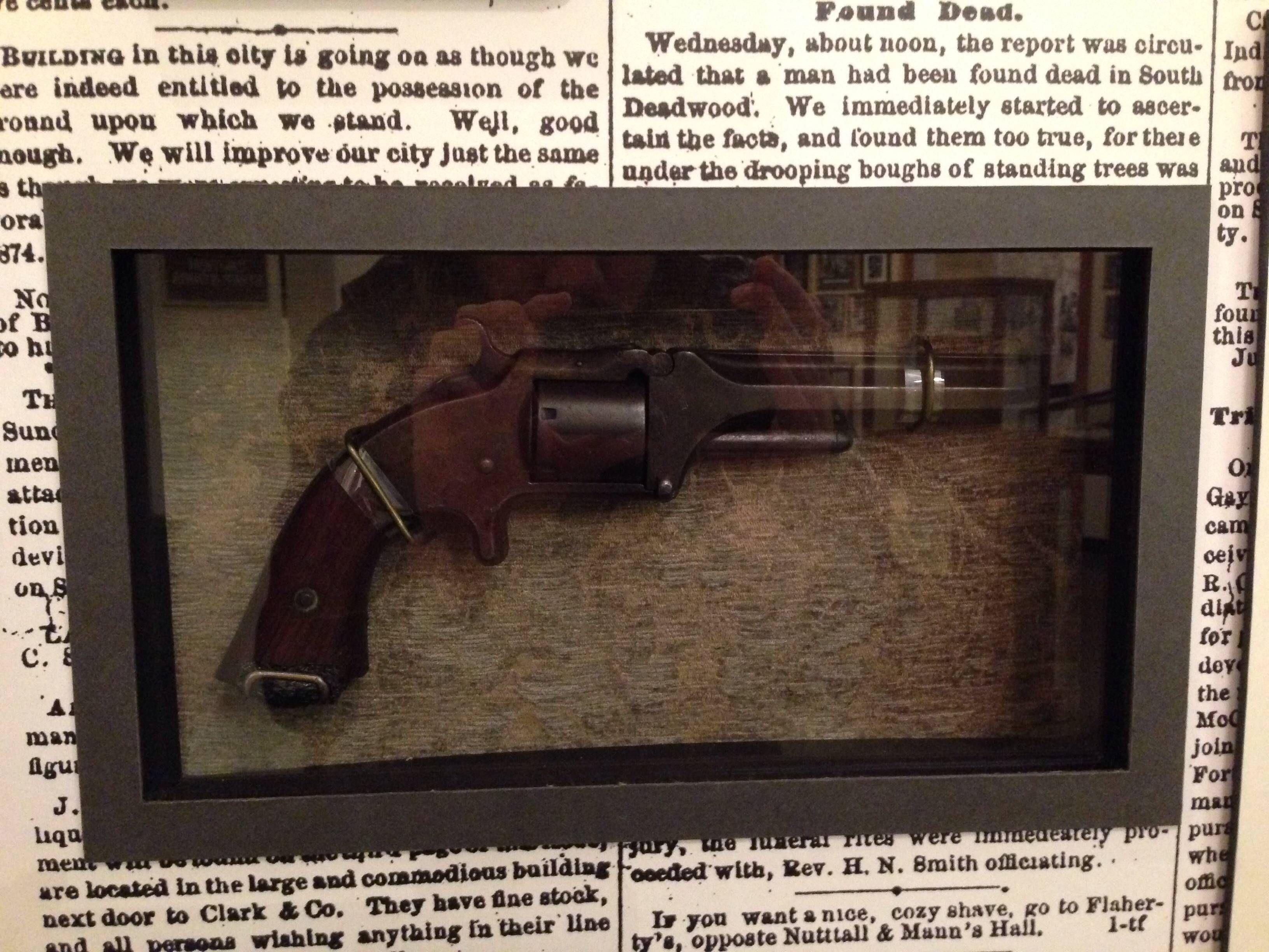 Double pistol handgun revolver gun display case cabinet rack shadowbox - 2 Old Model Army Revolver Smith Wessonarmymodelrevolversweaponsguns