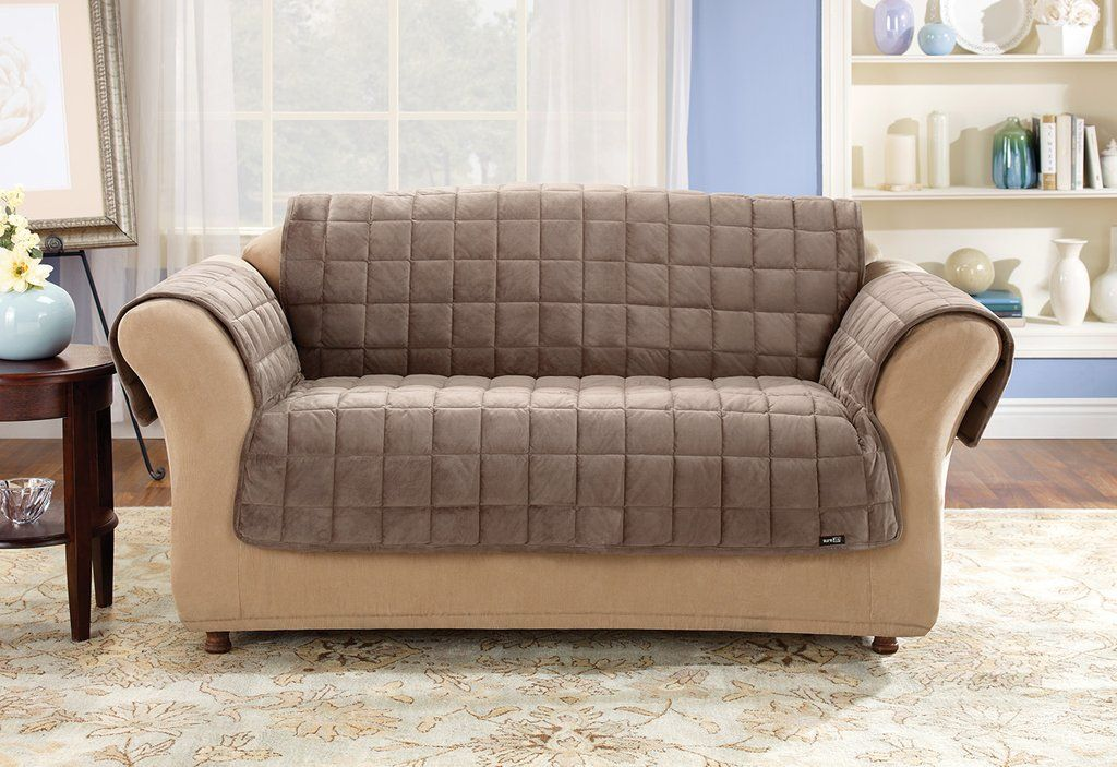 Perfect For Family Rooms And Casual Decorative Styles Our Luxuriously Plush Quilted Velvet Deluxe Furniture Pet Furniture Covers Cushions On Sofa Deluxe Sofas