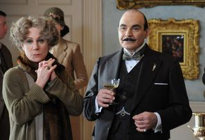 David Suchet ends his 25-year run as Agatha Christie's Hercule Poirot. Zoe Wanamaker, left, played his flamboyant mystery writer friend, Ariadne.