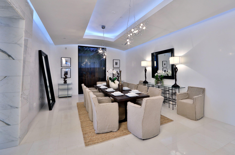 Modern Luxury White Dining Room Luxury Real Estate Marketing
