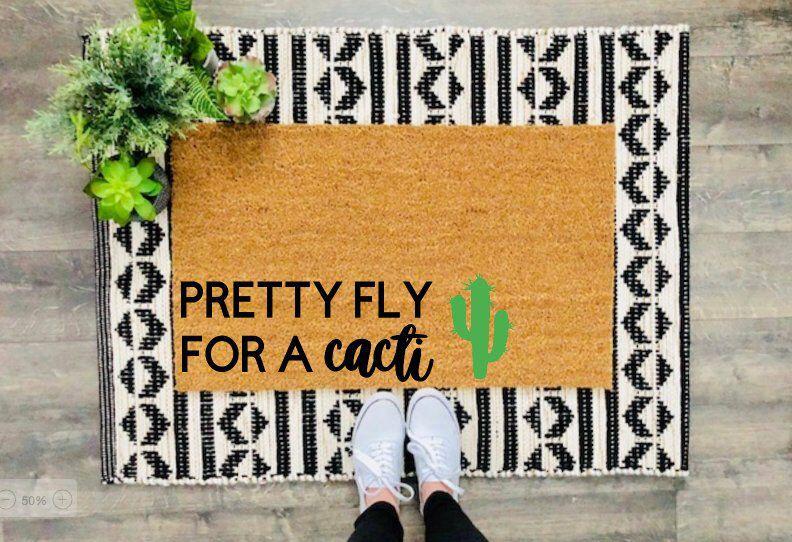 Cactus Doormat / Doormat / Welcome Mat / Housewarming Doormat / Succulent Doormat / Summer Doormat / Cactus Decor / Cactus