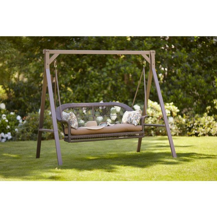 Porch Swings Home Depot | Wicker Patio Swing GCS00180A At The Home Depot