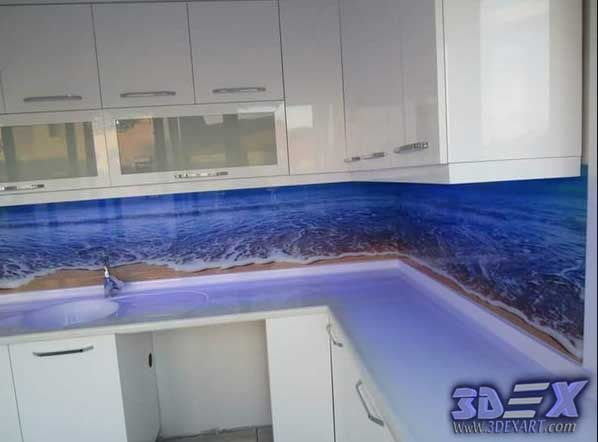 3d Backsplash Panel For Kitchen Beach Style Photo Printing Jpg