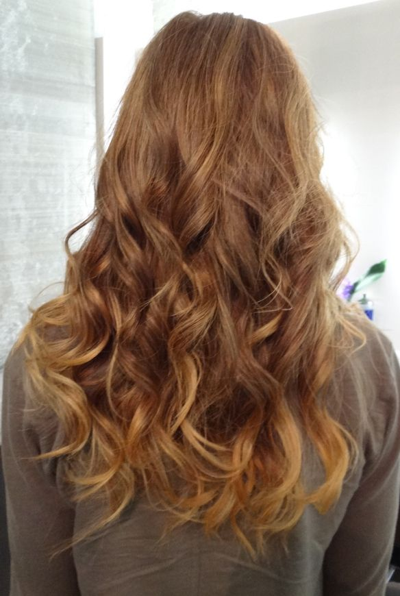 From Brunette To Dark Golden Blonde This Color Transition Can Be