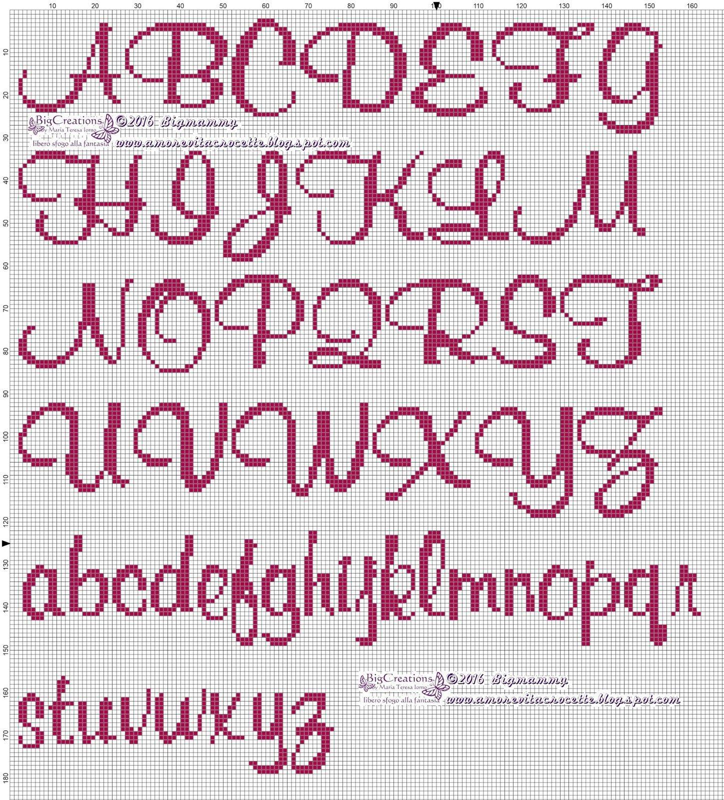 Pin di dana abeyta su cross stitch alfabeto punto croce for Ricamo punto croce lettere