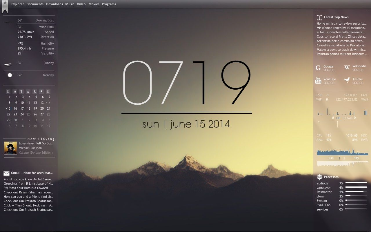 Another attempt at making my desktop more productive using