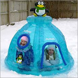 Penguin Igloo Winter Inflatable Playhouse Gifts Winter