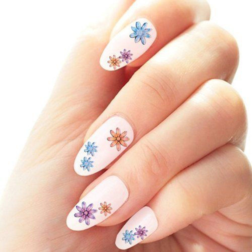 DIY 50 Sheets 3D Design Nail Art Sticker Tip Decal Toe