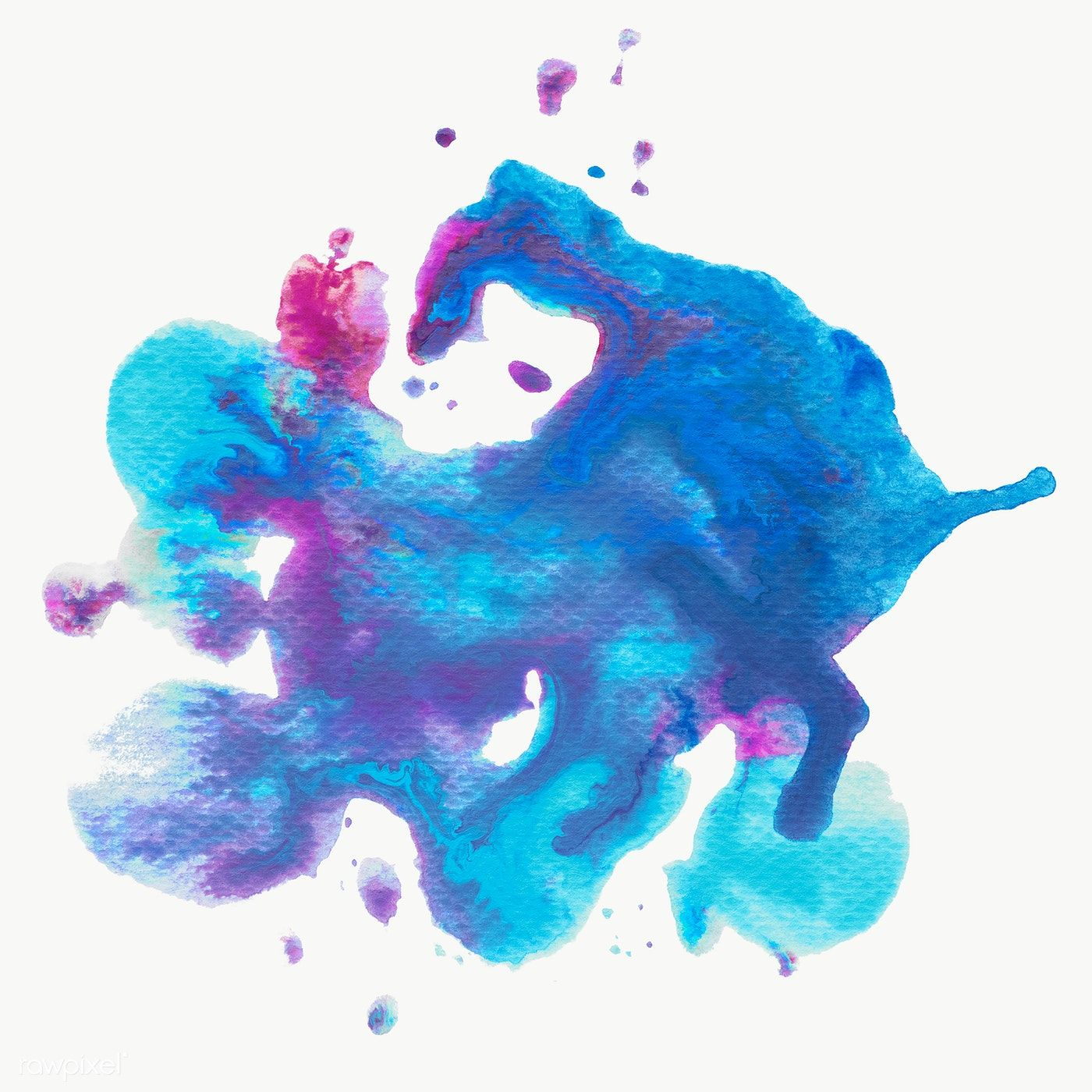 Abstract Blue And Pink Watercolor Splash Transparent Png Free Image By Rawpixel Com Aew