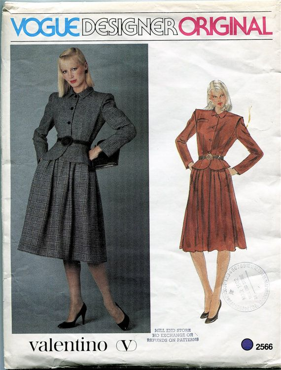 Vogue JACKET & SKIRT PATTERNS Suit with Peplum Jacket Pattern Vogue ...