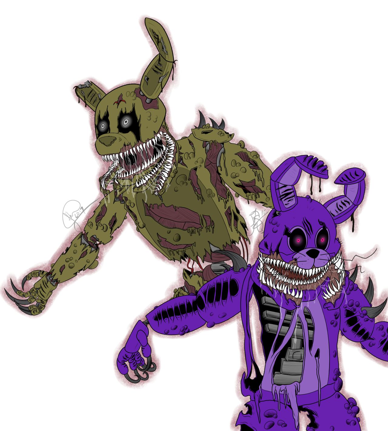 The Twisted Bunnies Speedpaint Https Youtu Be Vrmooat2mfc Fnaf Coloring Pages Fnaf Freddy Fnaf