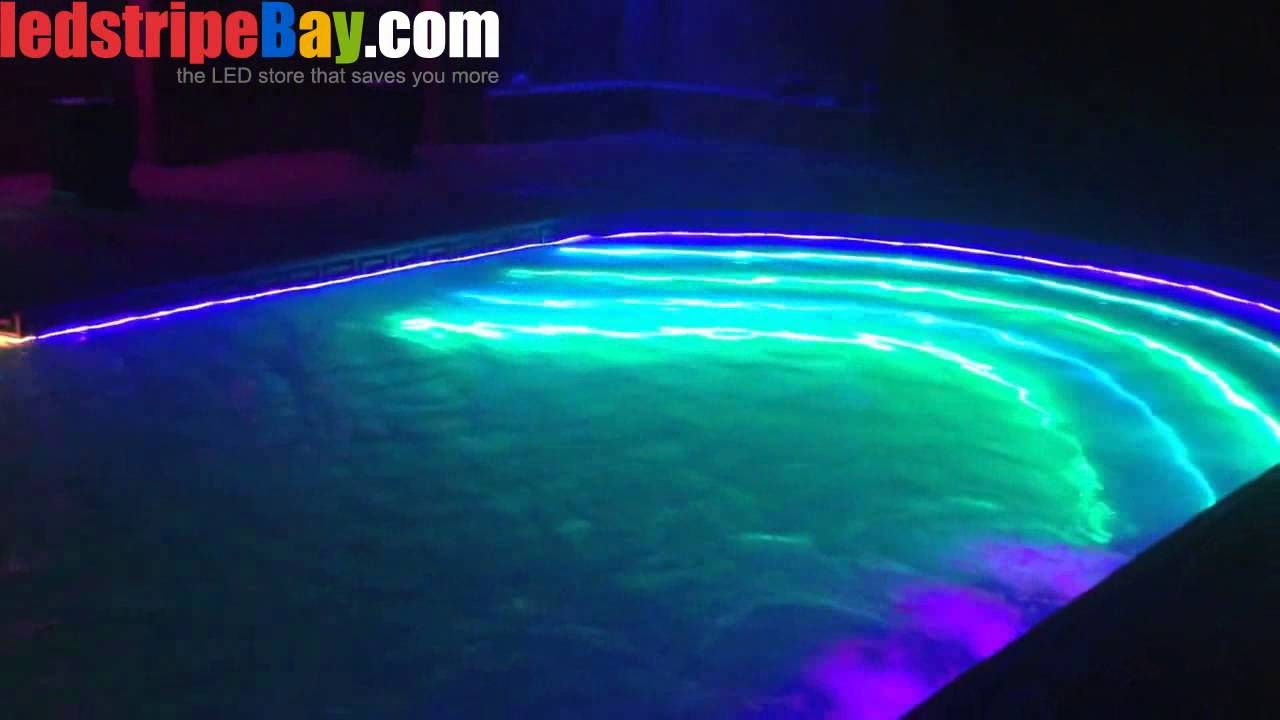 Afterward, a layer of strip light or any other led lighting is installed. 34 Æ°´ç³»ideas Pool Pool Light Swimming Pools