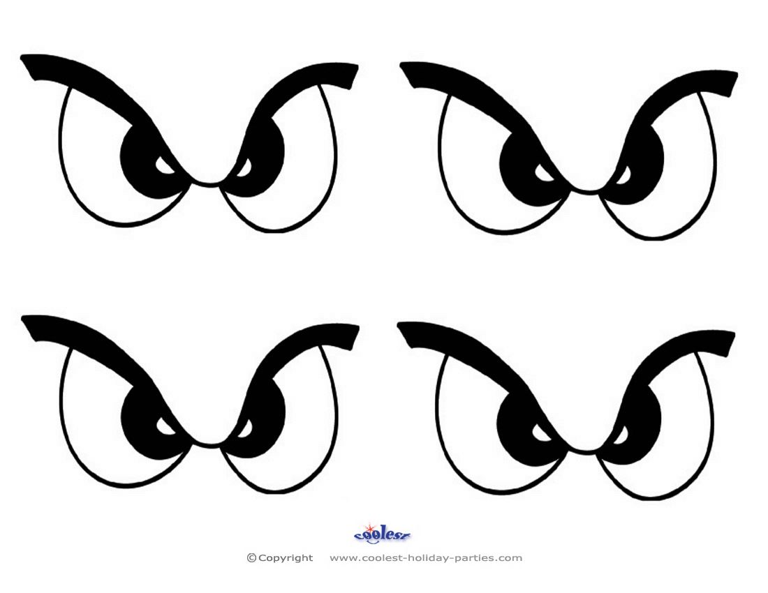 Small Printable Eyes 1 With Images Easy Drawings Scary Eyes